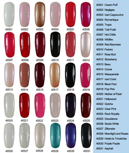 Шеллак цвета палитра на ногтях