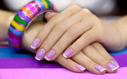 Маникюр с шеллаком на короткие ногти фото