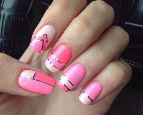 фото шеллак с рисунком на короткие ногти