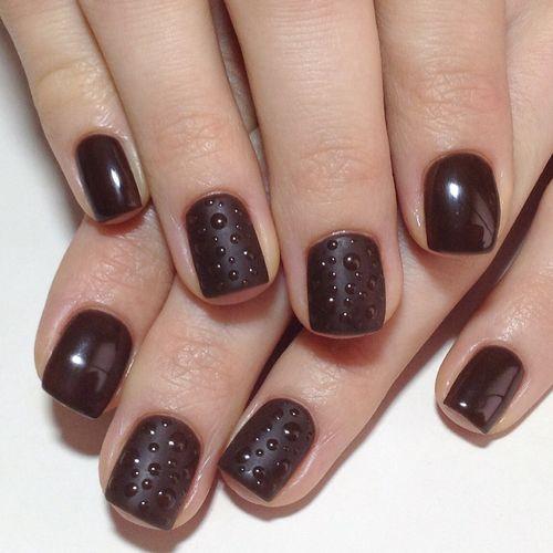 шеллак фото коричневый дизайн