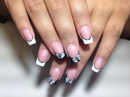 шеллак на длинные ногти фото