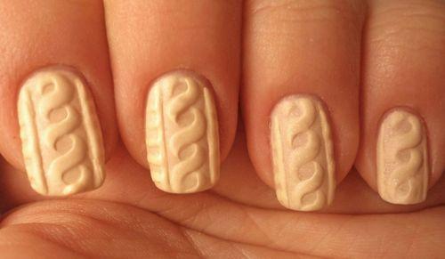 Дизайн ногтей шеллак свитер