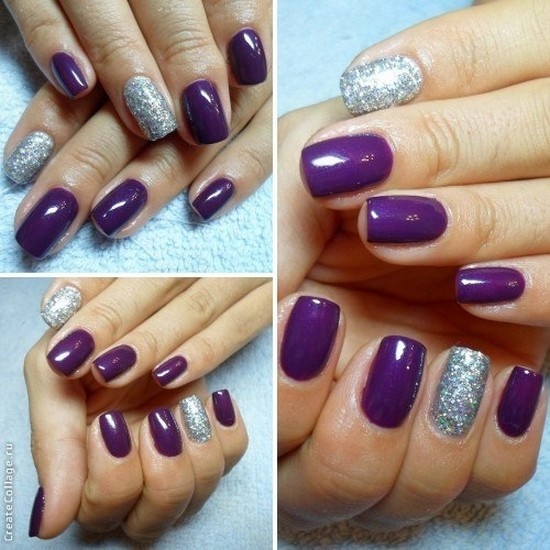 Дизайн шеллак фиолетовый