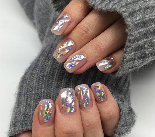 красивый френч с рисунком на ногтях фото 2018 новинки красно синий