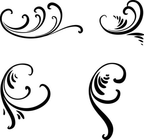 Рисунки на ногтях завитушки
