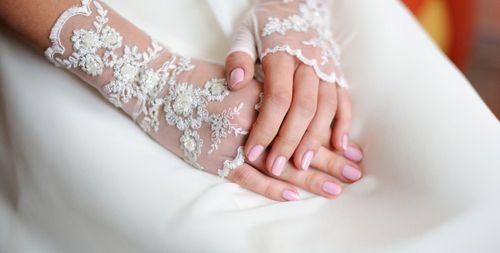 Однотонный маникюр на свадьбу