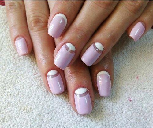 Обратные лунки на ногтях